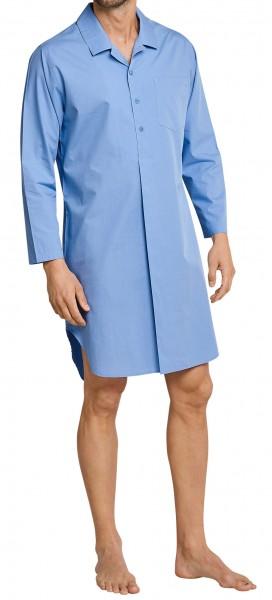 Seidensticker Herren Nachthemd lang blau
