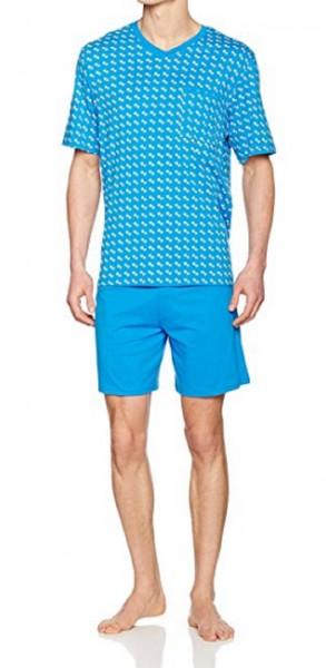 Seidensticker kurzer Männer Schlafanzug Single Jersey