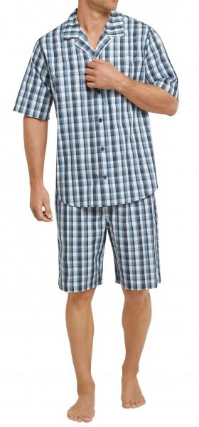 Seidensticker Herren Zweiteiliger Schlafanzug Pyjama kurz Popeline