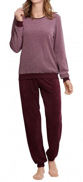 Seidensticker Damen Pyjama lang Frottee 168017-510