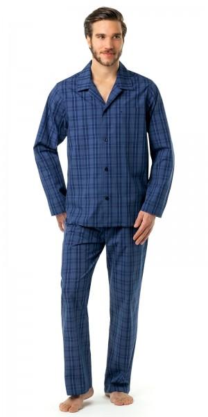 Seidensticker Herren Pyjama lang Popeline