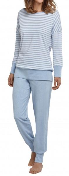 Seidensticker Damen Zweiteiliger Schlafanzug Anzug Lang 161503-805