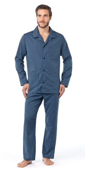 Seidensticker Herren Pyjama lang Splendesto bügelfrei
