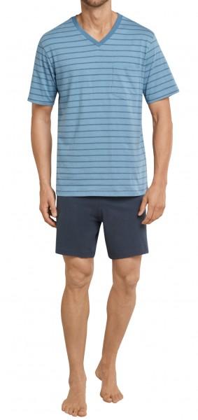 Seidensticker kurzer Männer Schlafanzug Single Jersey 161634-808