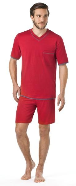 Seidensticker Herren Schlafanzug kurz Single Jersey