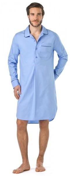 Seidensticker Herren Nachthemd langer Arm Popeline