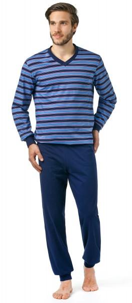 Seidensticker Herren Schlafanzug lang Single Jersey 144598-800