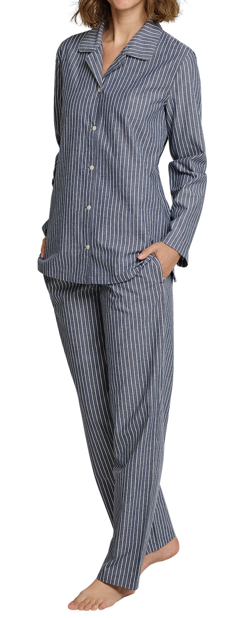 new style 509e6 70663 Seidensticker Schlafanzug Damen lang Flanell 163560-804