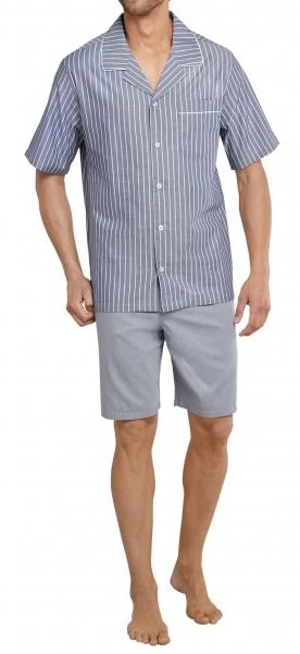 Seidensticker Herren Pyjama kurz Chambray 161170-800
