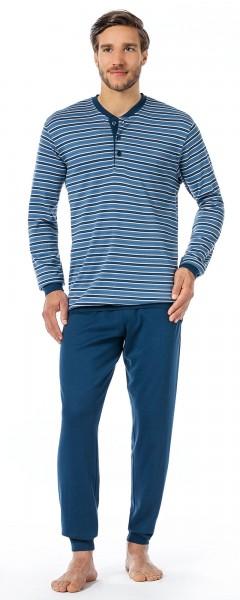 Seidensticker Männer Schlafanzug lang Single Jersey 139251-800