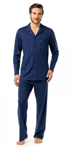 Seidensticker Herren Pyjama lang Single Jersey