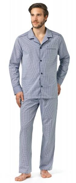 Seidensticker langer Herren Pyjama Popeline