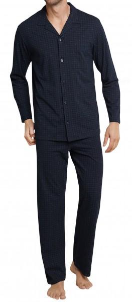 Seidensticker Herren Schlafanzug lang Single Jersey