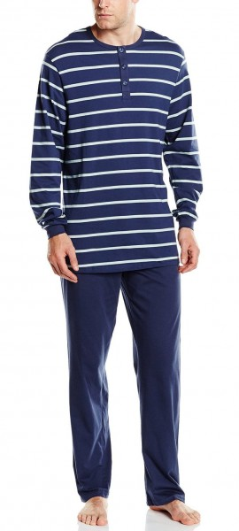 Männer Schlafanzug lang Single Jersey 148478-803