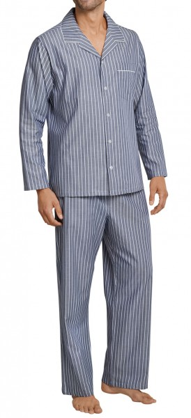 Seidensticker Men's Pajama long Chambray 161168-800