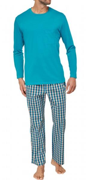 Seidensticker langer Männer Schlafanzug Single Jersey