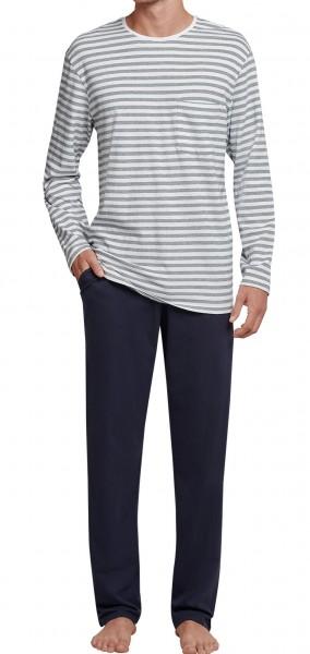 Seidensticker Männer Schlafanzug lang Single Jersey 165685-102