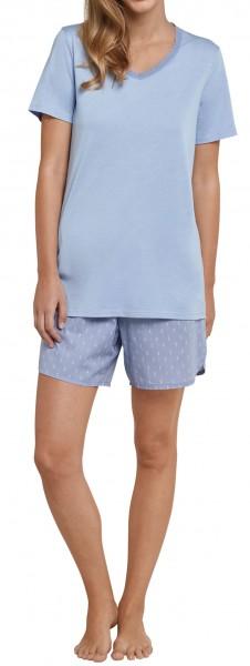 Seidensticker Damen Zweiteiliger Schlafanzug Anzug kurz 161497-805