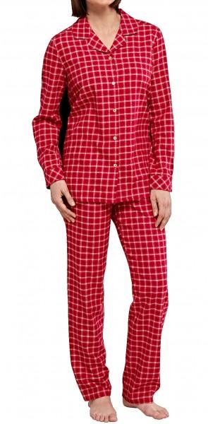 Seidensticker Damen Pyjama lang Flanell