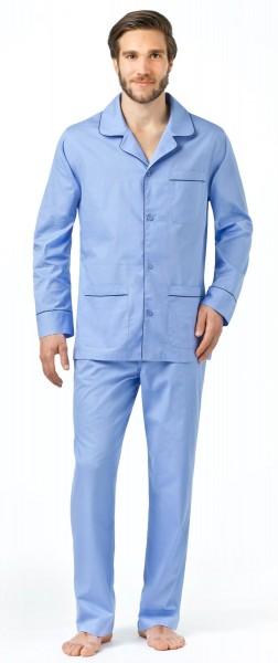 Seidensticker Herren Schlafanzug lang Popeline