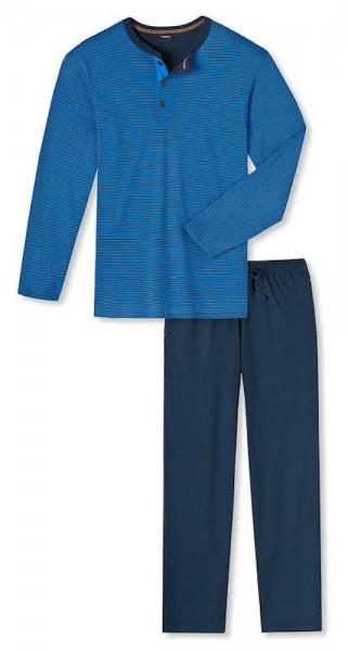 Seidensticker Männer Schlafanzug lang Single Jersey