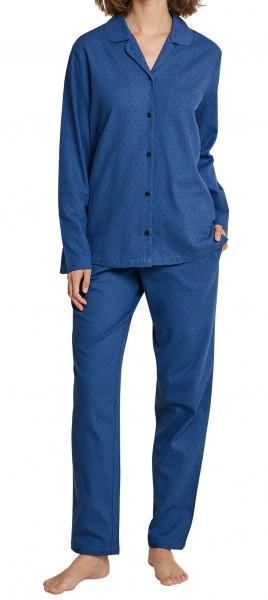 Seidensticker Damen Zweiteiliger Schlafanzug Flanell Anzug Lang 163566-800