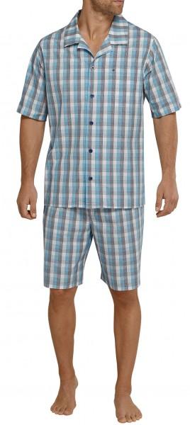 Seidensticker kurzer Herren Pyjama Popeline