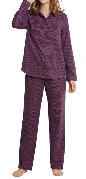 Seidensticker Damen Pyjama lang Flanell 168016-516