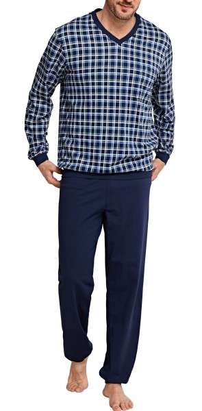 Men's Pyjama long single jersey 154263-803
