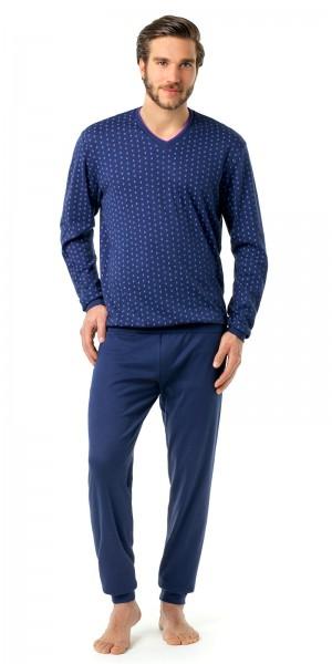Seidensticker Männer Pyjama lang Interlock
