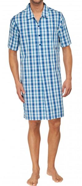 Seidensticker Herren Nachthemd kurzer Arm Popeline