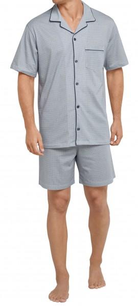 Seidensticker Herren Zweiteiliger Schlafanzug Pyjama kurz