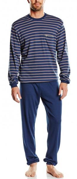 Seidensticker Männer Schlafanzug lang Interlock