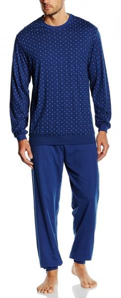 Seidensticker langer Herren Schlafanzug Single Jersey