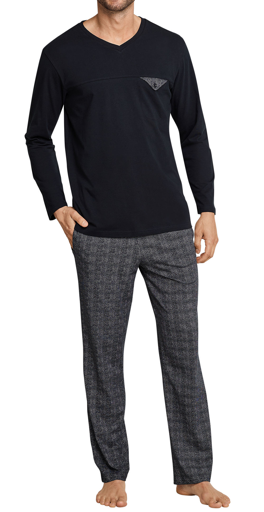 info for bca6d a5d4b Seidensticker Herren Zweiteiliger Schlafanzug Pyjama Anzug lang 163623-000