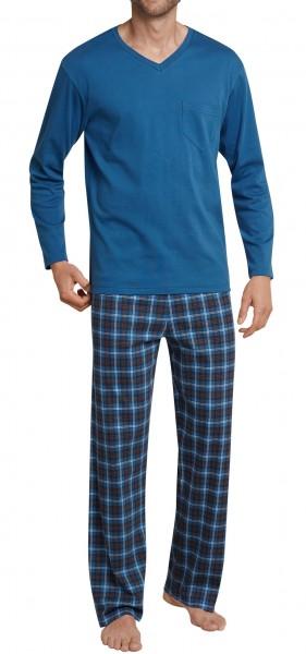 Seidensticker Herren Schlafanzug lang Interlock