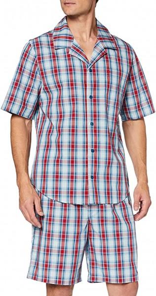 Seidensticker Herren Pyjama Kurz Zweiteiliger Schlafanzug