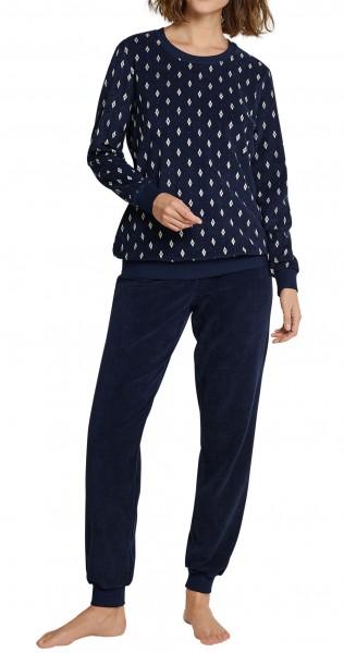 Seidensticker Damen Zweiteiliger Schlafanzug Frottee Anzug Lang 163559-804
